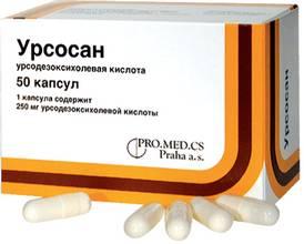 Инструкция к препарату Урсосан для печени